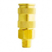Medco MIL-765 High Flow Male Brass Coupler 0.6cm .