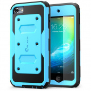 iPod Touch 6th Generation Case, [Heavy Duty] i-Blason Apple iTouch 6 Case Armorbox [Dual Layer] Hybrid Fullbody Case w Front Cover and Builtin Screen Protector / Impact Resistant Bumper