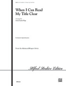 Alfred 00-20220 When I Can Read..Clear-Hbl3-5 Book