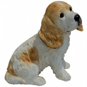 Michael Carr Designs MCD80094 Cocker Spaniel Puppy White and Tan - Medium