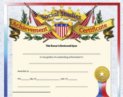HAYES SCHOOL PUBLISHING H-VA675 CERTIFICATES SOCIAL STUDIES ACHIEVE-36/PK 8-1/2 X 11 INKJET/LASER