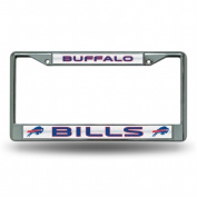 Rico Industries RIC-FCGL3501 Buffalo Bills NFL Bling Glitter Chrome Licence Plate Frame