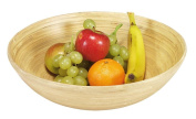 Kesper Fruit and Biscuit Bowl, hand carved from Bamboo Serving Dish, Height