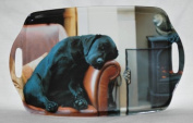 Country Matters Sleeping Labrador Melamine Tray 48x31cm