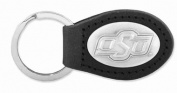 ZeppelinProducts OKS-KL6-BLK Oklahoma State Leather Key Fob Black