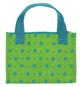 Joann Marrie Designs NLB1LTD Lunch Bag - Lime with Turquoise Dots Pack of 2