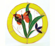 Gift Essentials GE124 Small Orange Butterfly Circle Window Panel