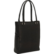 Piel Leather 3034 - CHC Vertical Laptop Tote - Chocolate