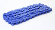 DUO Bicycle Parts BC1218CRB Bicycle Chain Royal Blue 1.3cm x 0.3cm .