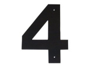 Montague Metal Products HHN-4-10 25cm . Helvetica Modern Font Individual House Number 4