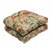 Pillow Perfect 538662 Botanical Glow Tiger Stripe Wicker Seat Cushion