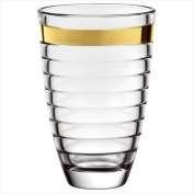 Majestic Gifts E64426-US Baguette 24cm . Gold Band High Quality Glass Vase