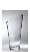 Majestic Gifts T-730-8 Classic clear 22cm . High Quality Glass Slanted Vase