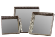 Urban Trends Collection 25400 Metal Mirror-Tray Set of Three