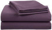 Crowning Touch by Welspun Ecct-Ss-Quen-03 Cotton 500 Thread Count Egg Plant Sheet Set