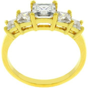 5 Stone Anniversary Ring In Gold- Size- 08
