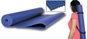 Olympia Sports PS673P 68 L x 24 W Yoga Mat with Convenient Travel Shoulder Strap
