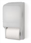 E-Z Taping System RD0025-03 Two Roll Standard Tissue Dispenser in White Translucent