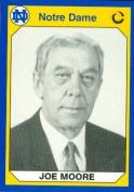 Autograph Warehouse 91283 Joe Moore Football Card Notre Dame 1990 Collegiate Collection No. 164