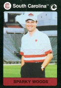 Autograph Warehouse 96915 Sparky Woods Football Card South Carolina 1991 Collegiate Collection No. 52