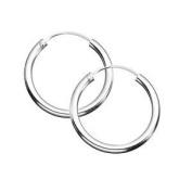 Sterling Silver 10 mm Sleeper Hoop Earrings
