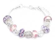 Crystal Charm Bracelet Girl's Pandora Style