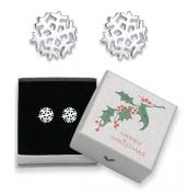 Sterling Silver Snowflake stud earrings - Size