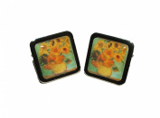 Van Gogh 'Sunflowers' Cufflinks