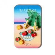 Story Card Of Earrings Fruit Bowl (designs & Colours May Vary) Made With Fimo by JOE COOL