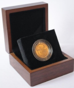 1872 Full Gold Sovereign - Luxury Walnut Presentation Case with Air Tight Coin Capsule