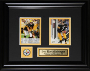 Midway Memorabilia Ben Roethlisberger Pittsburgh Steelers 2 Card Frame