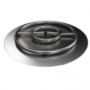 HearthDistribution FPK-OBRSS-24R 60cm SS Fire Pit Ring Burner with Pan