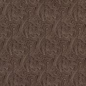 Designer Fabrics B630 140cm . Wide Brown Traditional Paisley Jacquard Woven Upholstery Fabric