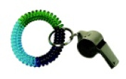 The Pencil Grip Wrist Coil Keychain With Whistle