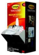 Command Designer Hook Trial Pack With Adhesive Strip Medium Size White Pack - 50
