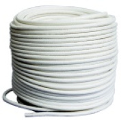 Pepperell Braiding 0.6cm . x 30m Roll Coiling Cord White