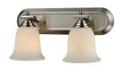 Z-Lite 704-2V-BN- 2 Light Vanity Light Brushed Nickel Steel Glass