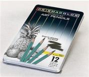 Prismacolor 24192 Turquoise Pencil Tins 12 Pencil Medium