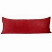 My Cosy Quarters J-14-PCMBP-15-RED Microsuede Body Pillow Case - Red
