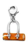 Whimsical Gifts 4217S Tube Purse Charm Dangle Silver