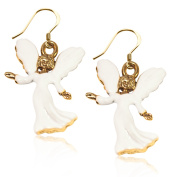 Whimsical Gifts 274G-ER Angel Charm Earrings in Gold