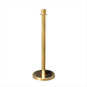 VIP Crowd Control 1605 30cm . Flat Base Taper Gold Stainless Steel Post with Taper Post Ring Pack of 2