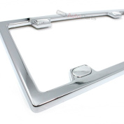 C Accessories Metal Licence Plate Frame - Chrome Elite With Caps
