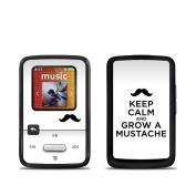DecalGirl SSCZ-KEEPCALM-moustache SanDisk Sansa Clip Zip Skin - Keep Calm - Moustache