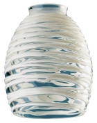 Westinghouse Lighting 8131400 5.7cm . Clear & amp; White Rope Glass Fitter - Pack of 4