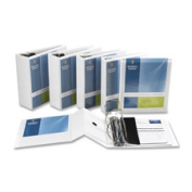Business Source BSN28440 D-Ring Binder- w- Pockets- 2.5cm . Capacity- White