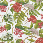 Caspari Berry Chintz Continuous Gift Wrapping Paper Roll, 2.4m, Pale Silver