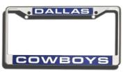 Caseys Distributing 9474640245 Dallas Cowboys Laser Cut Chrome Licence Plate Frame