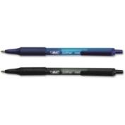 Bic Corporation SCSM361AST Soft Feel Ballpoint Retractable Pen 1 mm Black/Blue 36/Pk