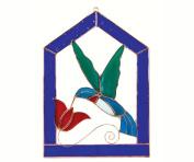 Gift Essentials GE113 Large Hummingbird Blue Steeple Frame Window Panel